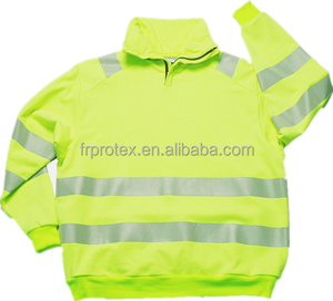 Modacrylic Cotton Anti-Static Pullover Shirt Hi Vis Workwear Safety Clothing