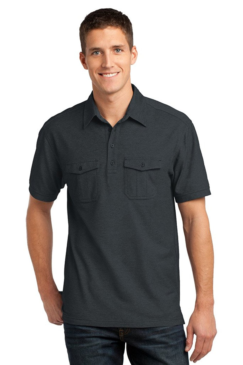a2b2cd2f71a1 Get Quotations · Buy Cool Shirts Mens Double Pocket Pique Polo Shirt