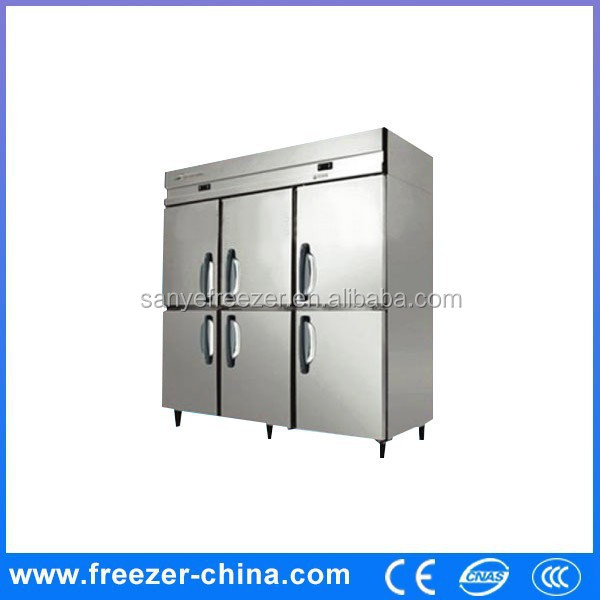 Hot sale lowest price 6 doors upright freezer/chiller for frozen China manufacturer