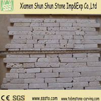 Cheap Chip Tumbled White Travertine Marble Mosaic Tiles