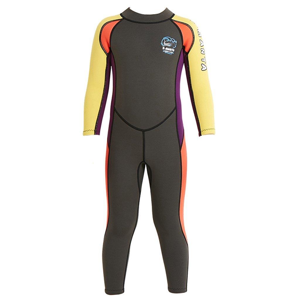 Baoblaze Child Boys Girls Full Wetsuit Sun Protection for Swimming Surfing Diving Swimwear 2.5mm Neoprene Long Sleeve Diving Suit