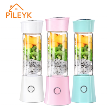 PILEYK 480ml Multi-functional Rechargeable Travel Portable Personal Music Blender Juicer