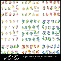 New Design Flower Water Base Transfer Nail Sticker for Nail/Phone Decoration