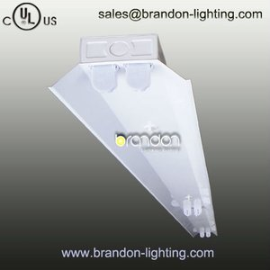 Twin Fluorescent/LED T5/T8 surface mounted commercial lighting Fixture with reflector or not (MX452)