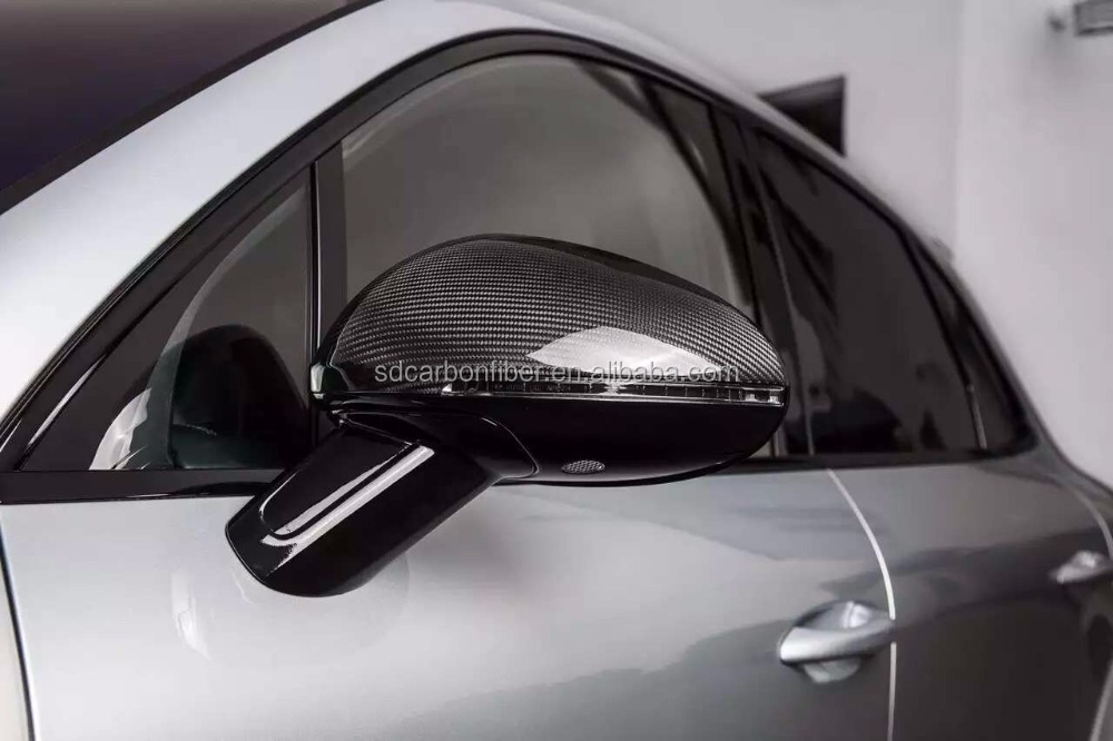 Real Carbon Fiber Replacement Rear view Mirror covers Fit For Porsche Macan carbon black