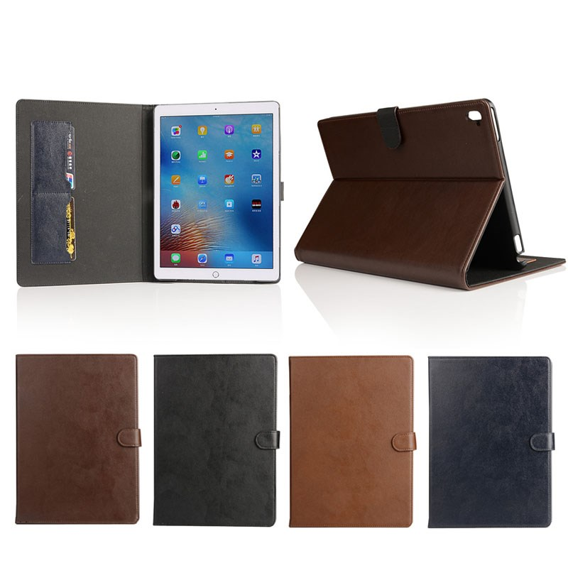 ultra thin protective tablet case for ipad pro 9.7,flip stand leather case hard pc back cover for ipad pro