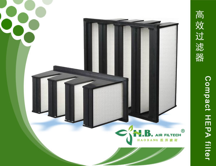 Hapa filter bank v mini lipit hepa filter udara hepa filter pemisah ultra hepa