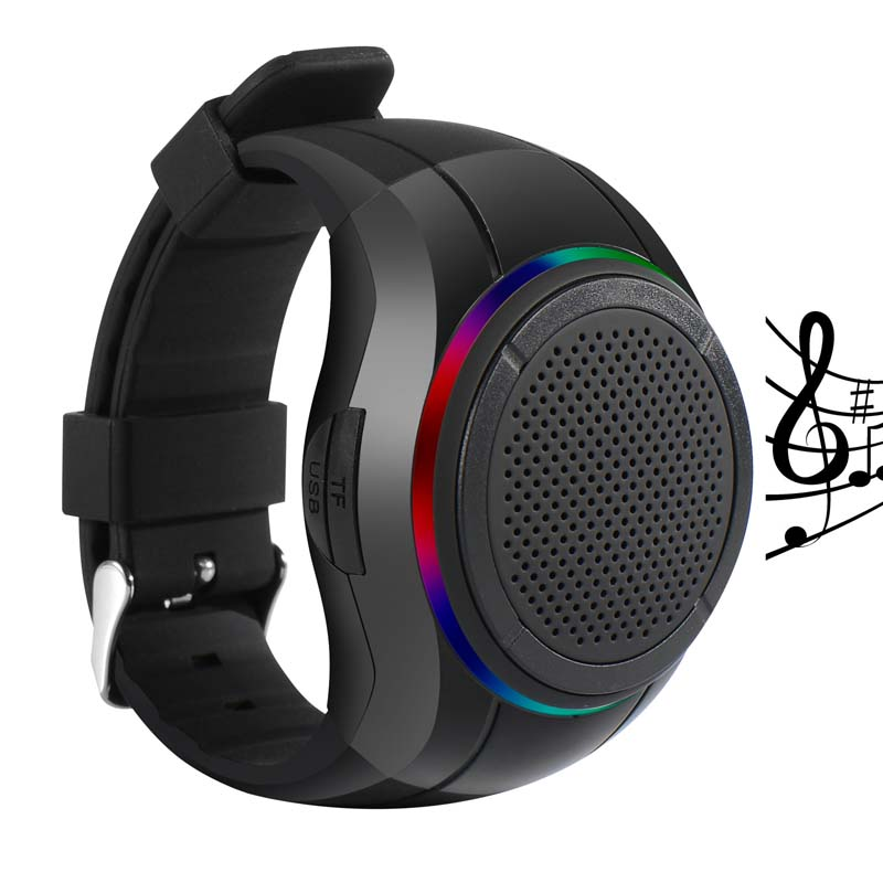 X10 방수 LED Zello Bluetooth 스피커 Watch MP3 Music Player PTT Bracelet Mini Wearable 무선 휴대용 Bluetooth 스피커