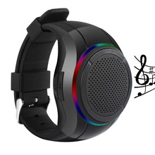 X10 방수 LED Zello Bluetooth <span class=keywords><strong>스피커</strong></span> Watch MP3 Music Player PTT Bracelet Mini Wearable 무선 휴대용 Bluetooth <span class=keywords><strong>스피커</strong></span>
