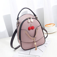 Wholesale 2019 Summer Newest PU leather Travel Ladies Cherry Mini Backpack Shoulder Bag Fashion