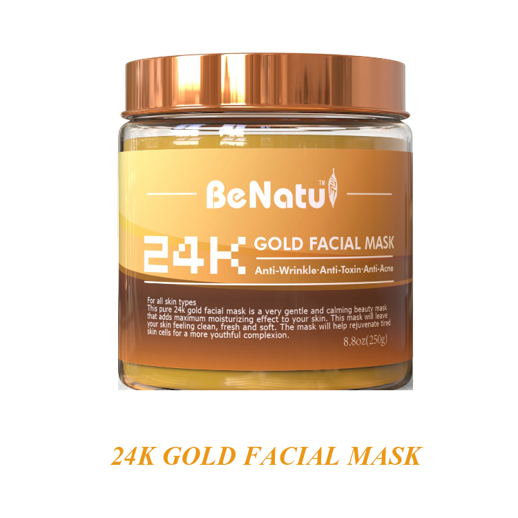 Best Quality Anti-Wrinkle, Ani-Toxic, Anti-Acne Calming Beauty Host Salon Mask For Youthful Complexion 24K Gold Facial Mask