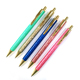 New Ideas Mini Glitter PU Leather Pen Promotional Gifts Metal Ball Pen For Lady Pen
