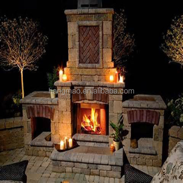 Best price outdoor stone fireplace buy wooden fireplace for Buy stone for fireplace