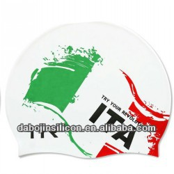 f3df93f6487 italy national Flag Patriotic Silicone Swim Caps with CE ROHS certification