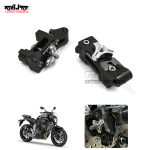 BJ-CA-YA003 motorcycle cnc rear axle spindle chain adjuster block swingarm sliders for Yamaha