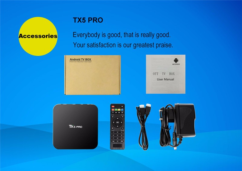 Amlogic TX5 Pro S905X 2G 16G android tv box 4K Android 6.0 media player stream TV box