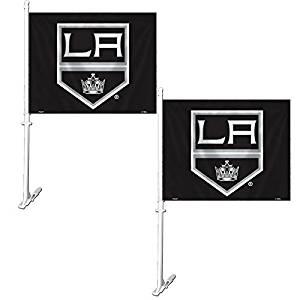 Official National Hockey League Fan Shop Authentic NHL 2-pack Car Flag (LA Kings)