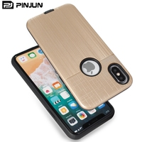 Hot Selling Hybrid Armor Case Brushed Dual Layer Protector Phone Cover ,Mobile Accessories For iPhone X