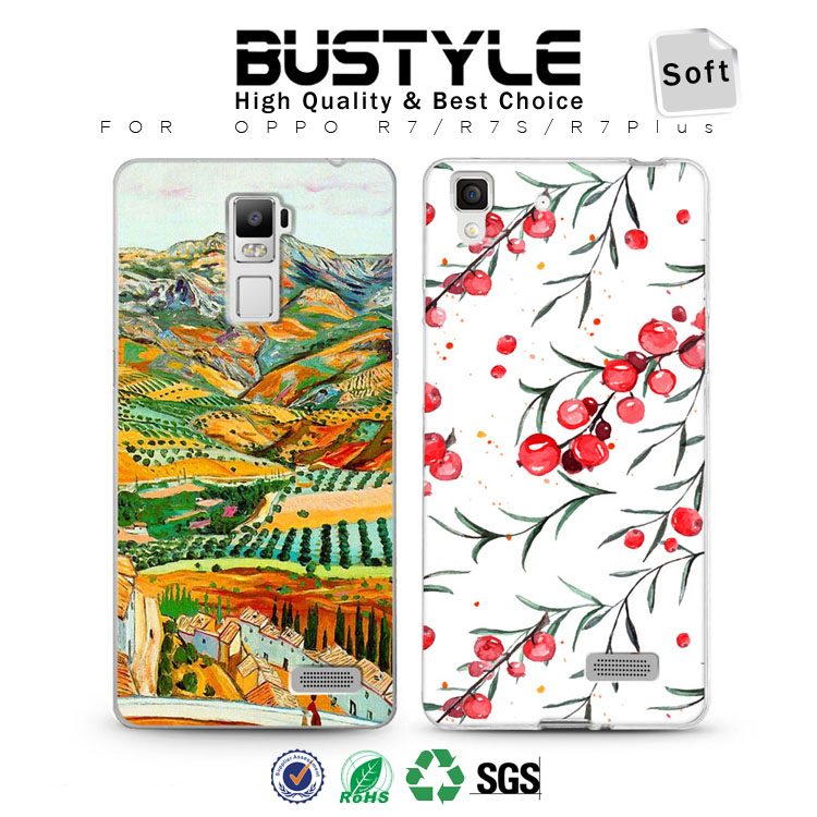 Mobile Phone Case for OPPO R7s R7 Plus Soft Slim Shell Cases with MIx Order for Lots of Design