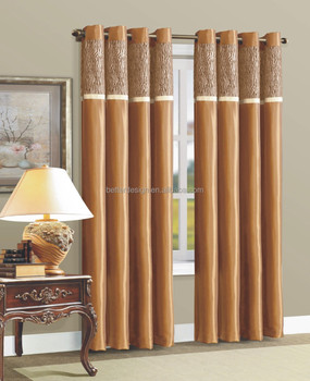 Poly Cotton Window Curtains For The Living Room, View Curtains for ...