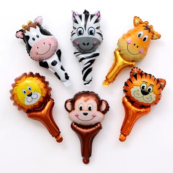 Decoracion De Baby Shower De Animales.Baby Shower Decoracion De Fiesta De Cumpleanos Ninos Juguetes Foil Animal En Forma De Mano Globo Palo Buy Globo De Juguete Con Forma De Animal Globo