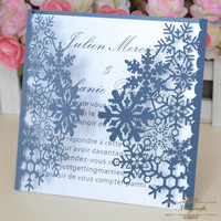 MR060 Navy blue party decoration birthday cards laser cut wedding invitations