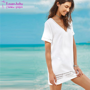 Latest Fashion Summer White Cover Up Dress L384938