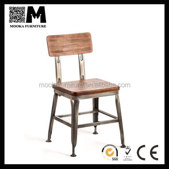 Genial Metal Chair/Wooden Seat Chair/Lyon Industrial Chair/Lyon Wooden Seat  Industrial Chair
