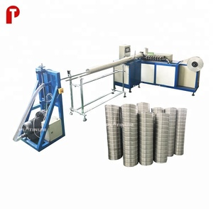 HVAC pure aluminum flexible duct tube pipe making machine PAD-300 for chimney connector ventilation tube manufacturing cook hood