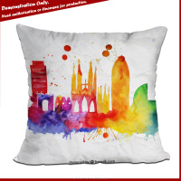 Wholesale promotional gift colorful pillow case