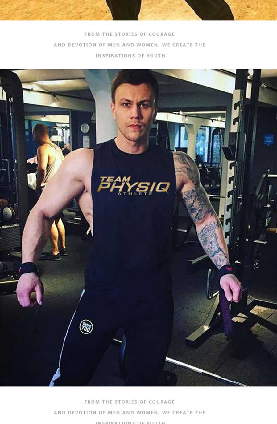 Men  s Lettering Vest Summer Men  s Casual Tank Tops Fashion Fitness ... 4665c9d736c