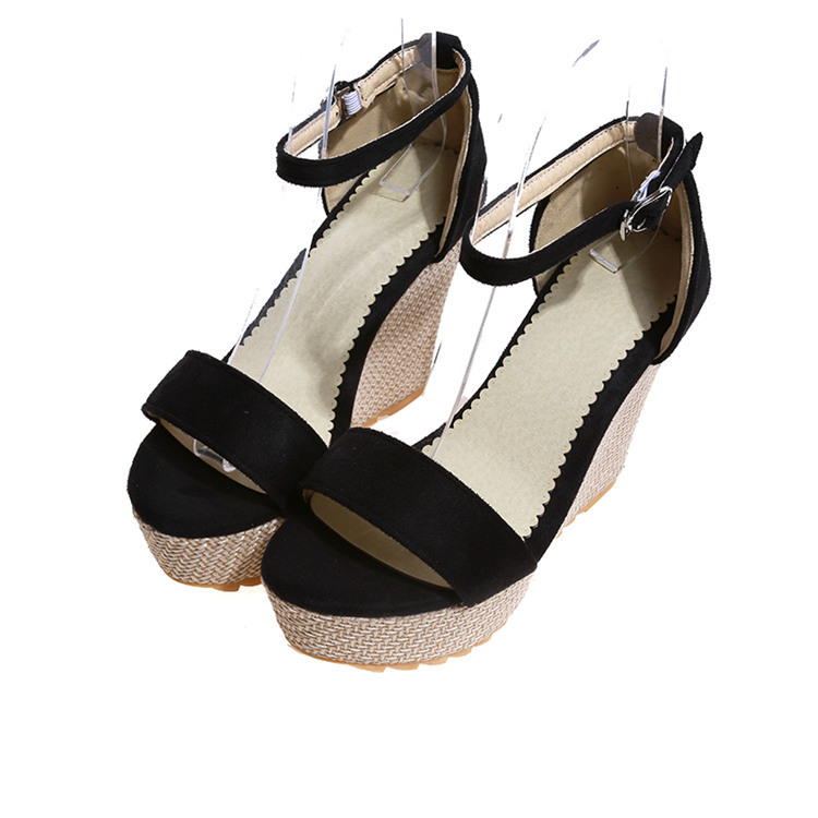 ce829b96f5f19 Get Quotations · 2015 Women Sandals Fashion Summer Style wedges Shoes Sexy Open  Toe comfort Buckle Strap sandal Platforms