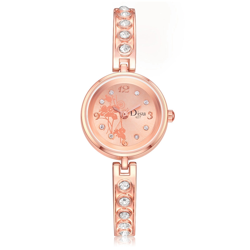 Women Luxury Crystal Bracelet Gemstone Wristwatch Dress Watches Women Ladies Gold Fashion Female Brand Watch