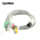 Universally Neonate One piece 5 lead ECG Cable with leadwires 6 pin