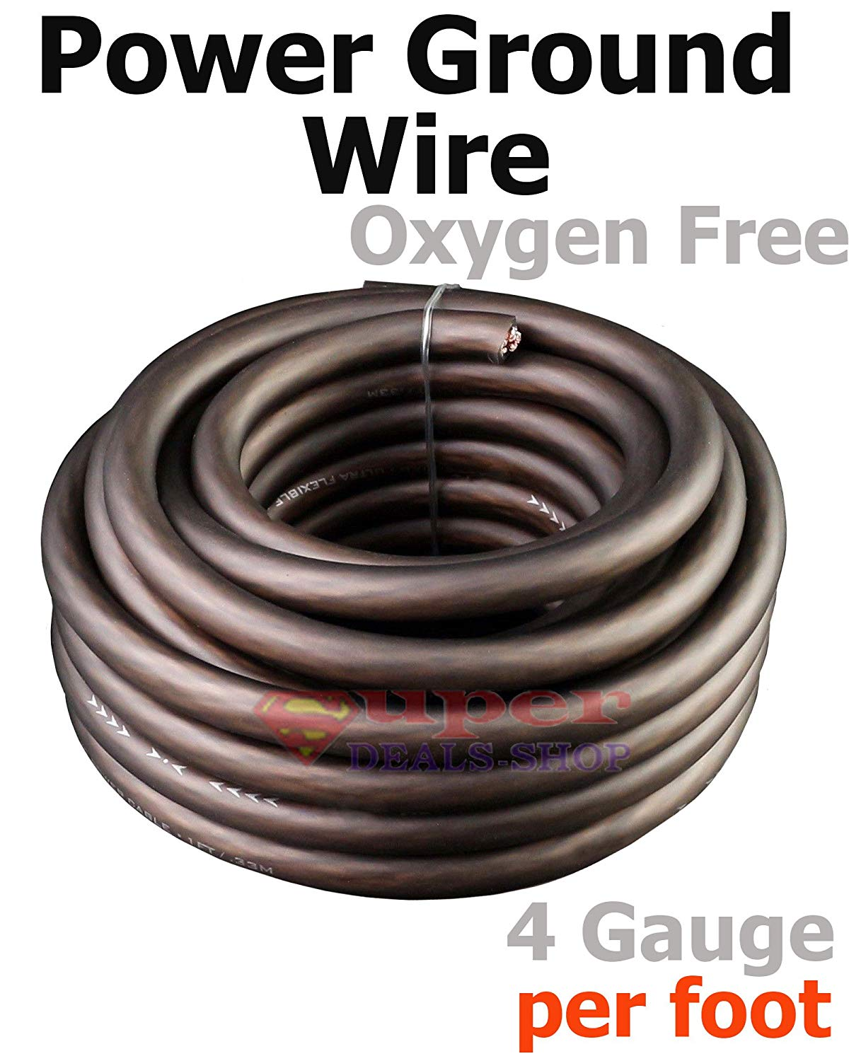 Cheap 12 Gauge Ground Wire Find Deals On Line Home Gt Car Audio Amplifier Kit Amp Wiring Pyramid 8ga Get Quotations Ultra Flexible Black Oxygen Free 4 Awg Power Stranded Cable Copper