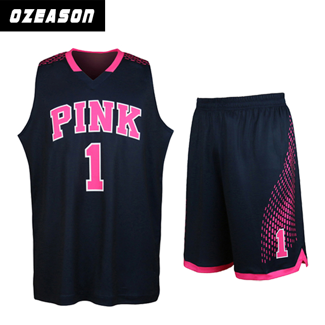 New design cheap reversible european basketball jerseys with numbers