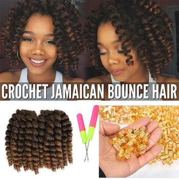 Ombre Color Jumpy Crochet Braid 8inch Afro Twist Jamaican Bounce 2x Mambo Toyokalon