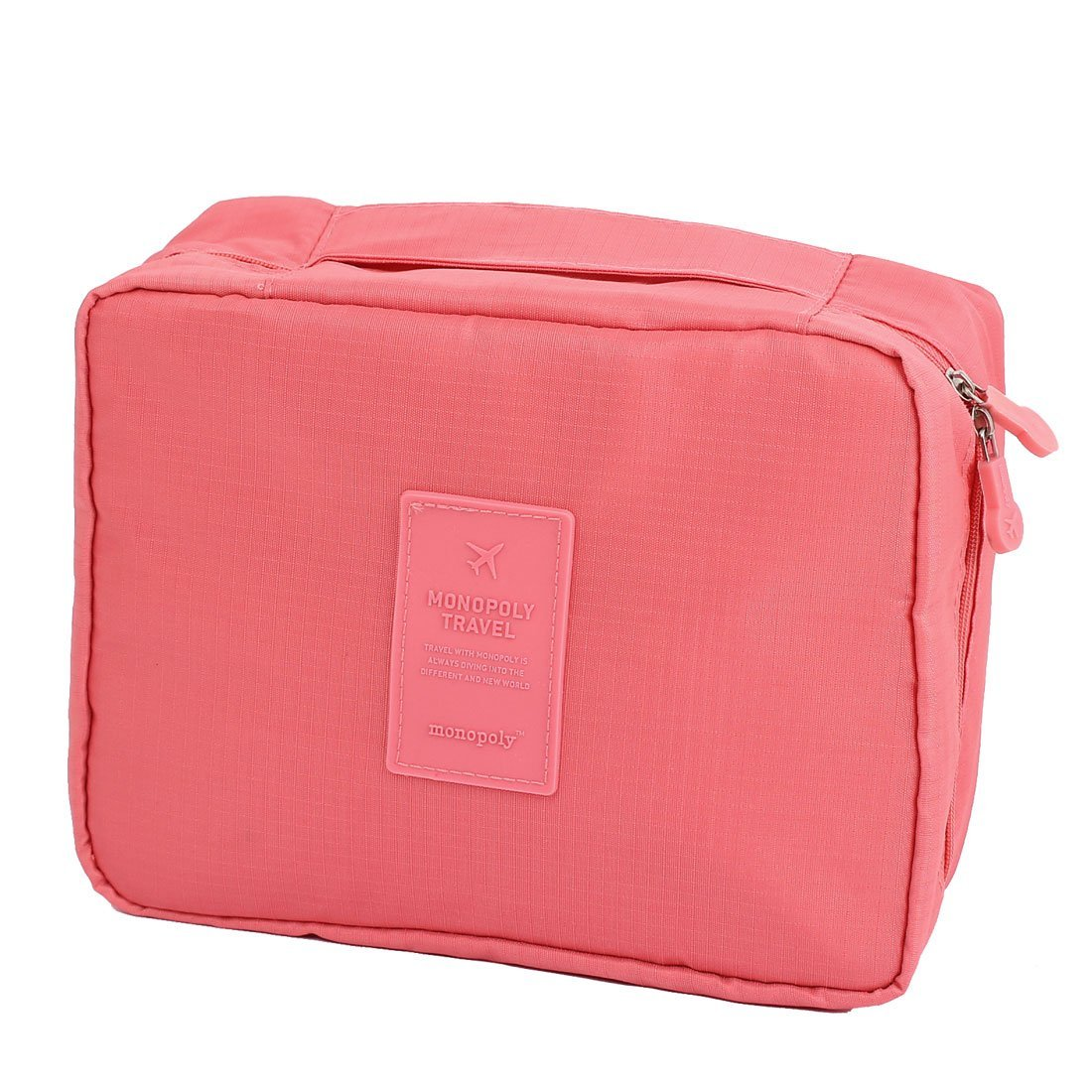 Travel Toiletry Toiletries Cosmetic Shaving Wash Bag Storage Case Pink