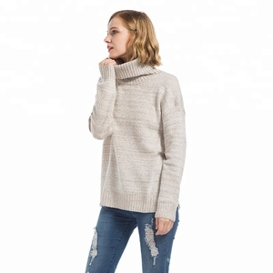 Wholesale Blank Fashion Women Turtleneck Knitwear