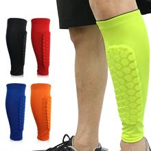 Professional Honeycomb Shin Guard Sleeve Anti Colllision Leg Compression Sleeve for Football, Basketball, Volleyball, Running