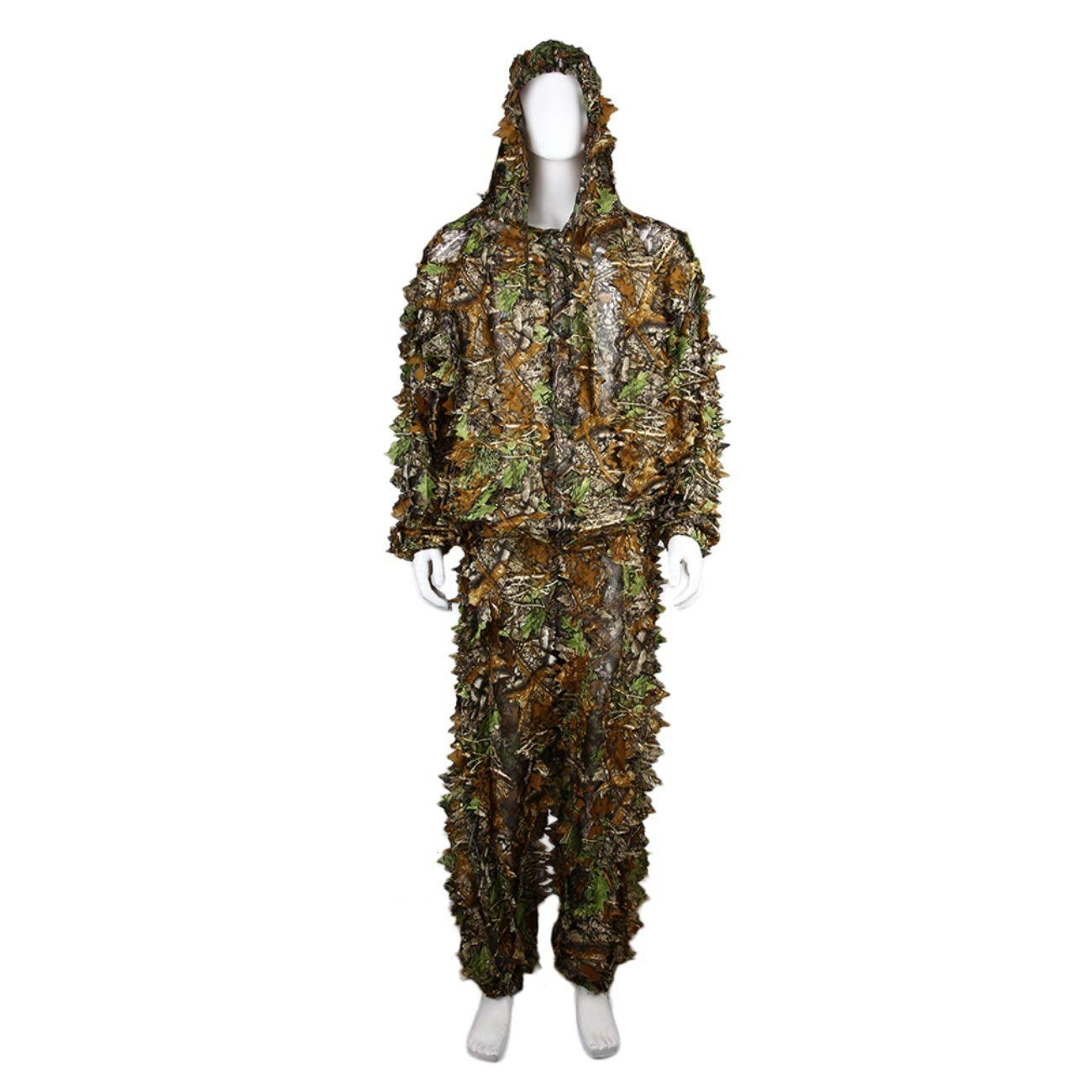 0c0178f1b1bd9 Get Quotations · Dooret Utility Hunting Camo Camouflage Clothing Leafy  Woodland Hunting Camo Jungle Suit Set 3D Leafy Ghillie