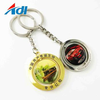Maker Custom High Quality Metal Keychain With Token For Sale