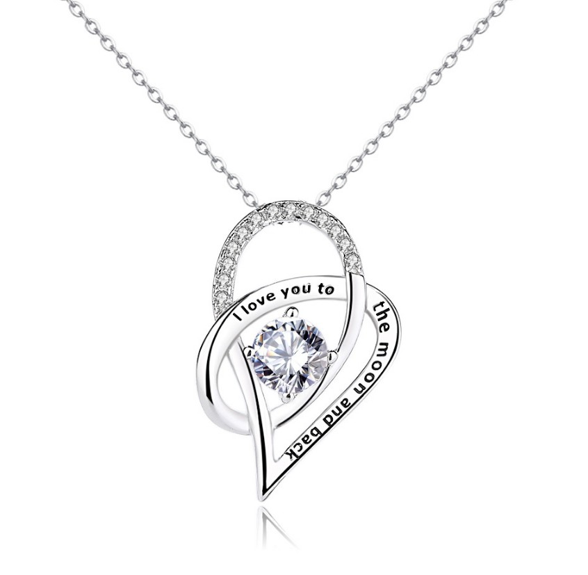 wholesale 925 Sterling <strong>Silver</strong> I love you to the moon and back pendant P20173