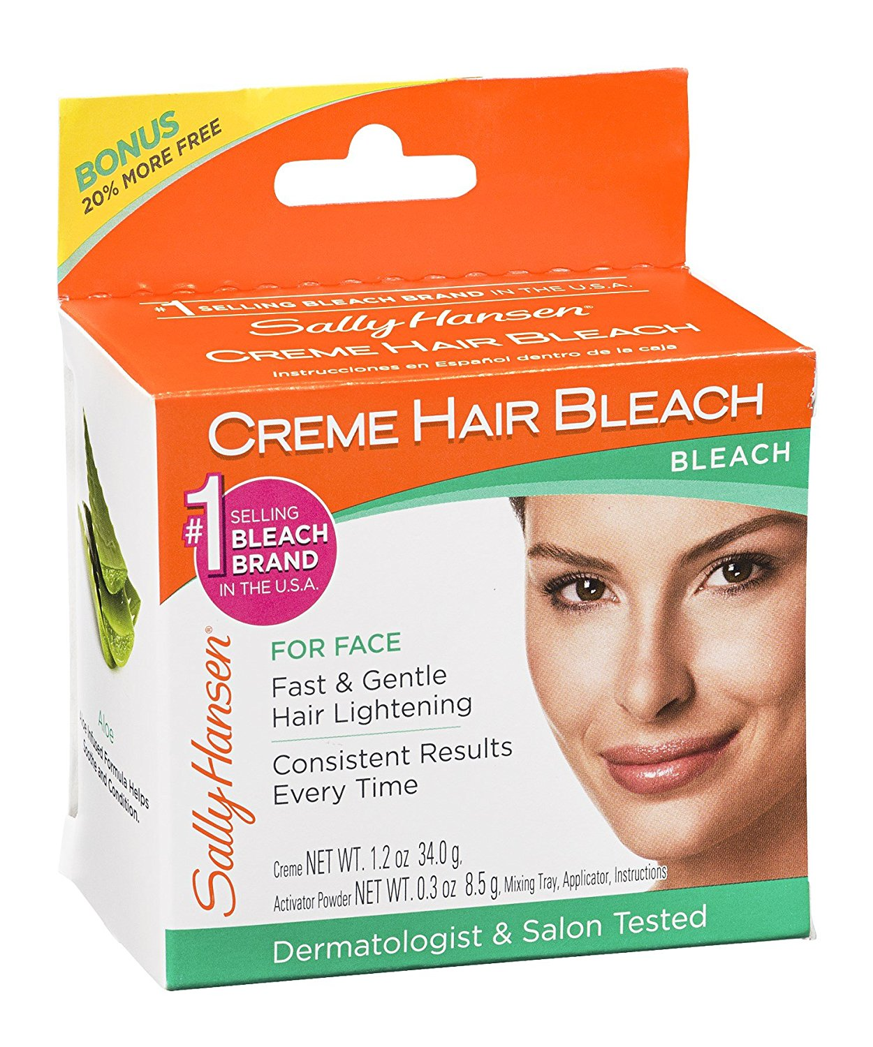 Sally Hansen Creme Hair Bleach for Face, 1.25-Ounce Package (pack of 4)