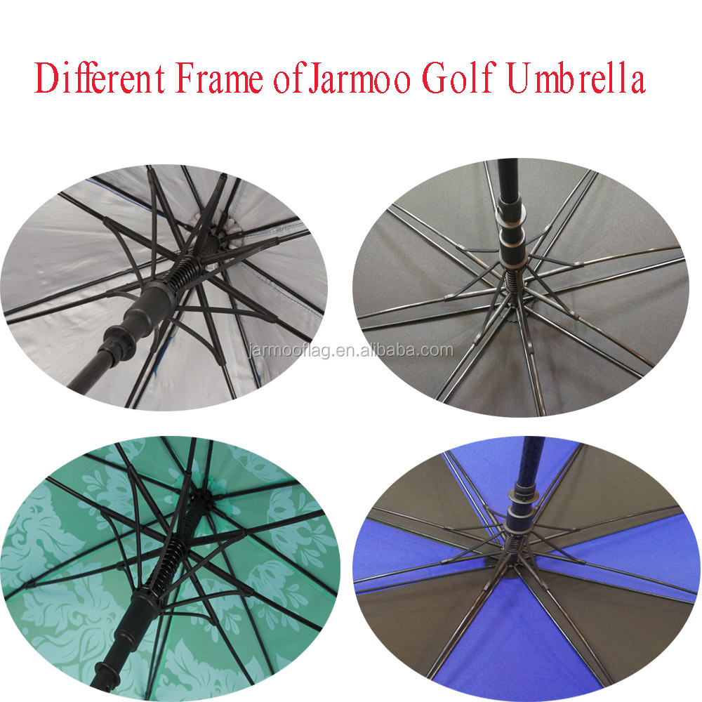 Multi-color Print Windproof Golf Umbrella Heat-Transfer Print Umbrella