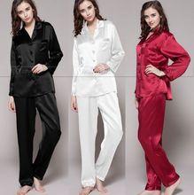 font b Womens b font Silk Satin Pajamas Set Pajama font b Pyjamas b font