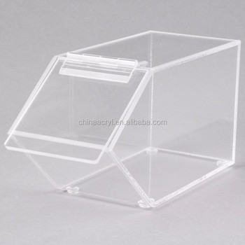 Clear Acrylic Candy Storage Box With Lid Bins Whole