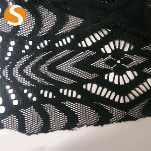 Garment 100% polyester double knit china fabric market wholesale lace