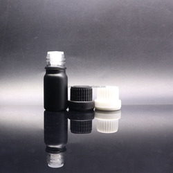 frosted black e liquid bottle matte black vape liquid bottle black glass dropper bottles GB-45S