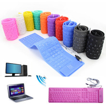 Newest USB 109Keys Number Flexible Foldable Silicone Wried Keyboard Waterproof and Mute for PC Tablet Laptop Computer